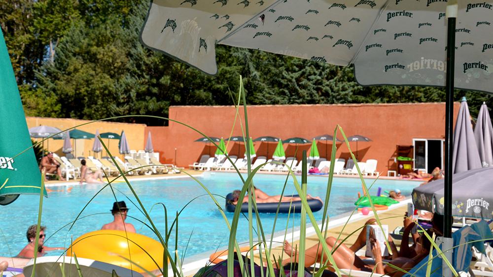 Piscine Camping Terre de Soleil, languedoc roussillon, herault, naturisme