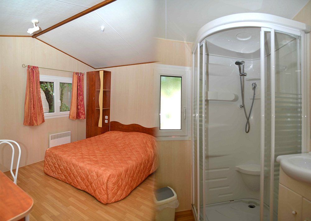 Location Mobil room camping, languedoc roussillon, herault, naturisme