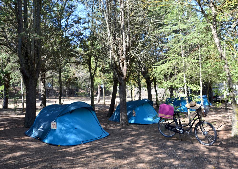 Location tente équipée camping, languedoc roussillon, herault, naturisme